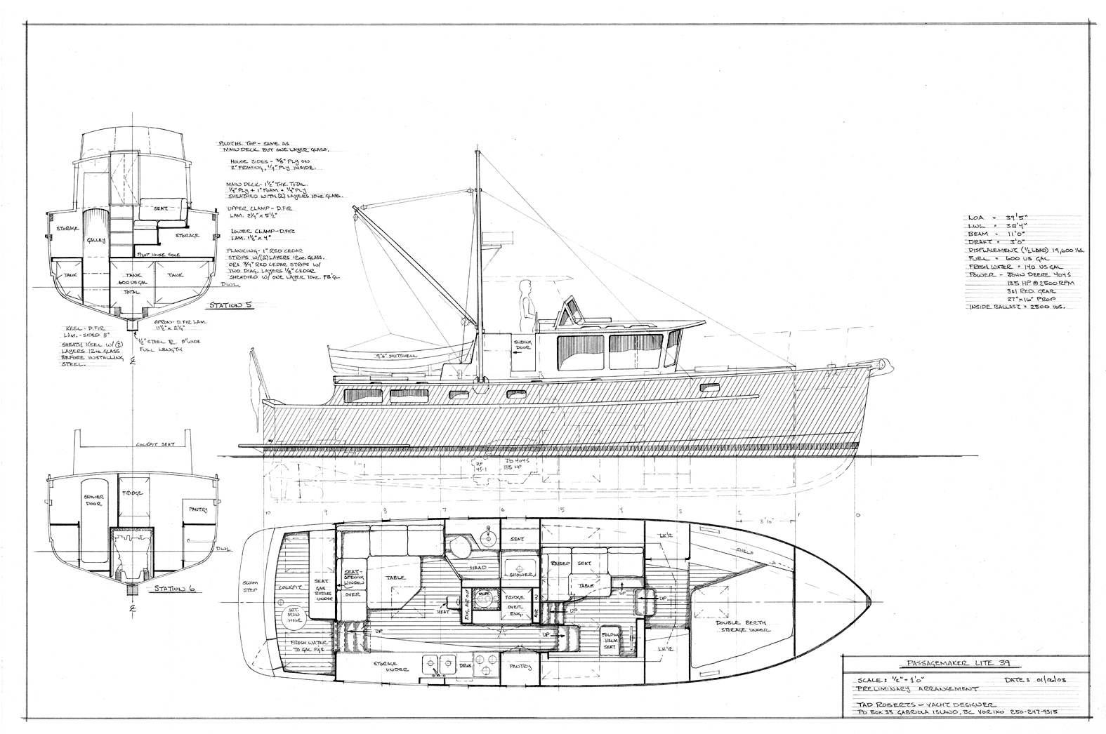 Passagemaker lite 39 tad roberts fast seaworthy fuel efficient passagemaker lite 39 malvernweather Choice Image
