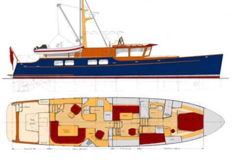 About the passagemaker lite design series yacht designer for Garden design trawler boat